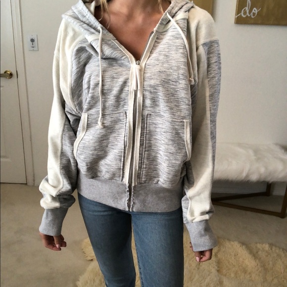 Free People Jackets & Blazers - Free people grey zip up jacket